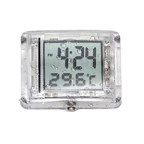 Baosity Universal Motorcycle Clocks Watch Waterproof Stick-On Motorbike with Temperature Digital Clock Fit ATV All Moto