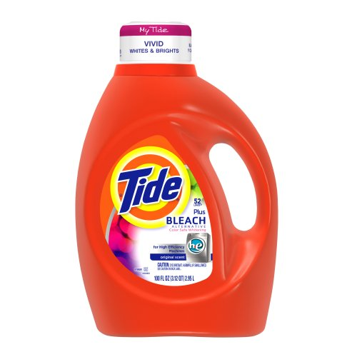 Tide Vivid White + Bright He Original Scent Liquid Laundry Detergent 52 Loads 100 Fl Oz (Pack of 4) by Tide