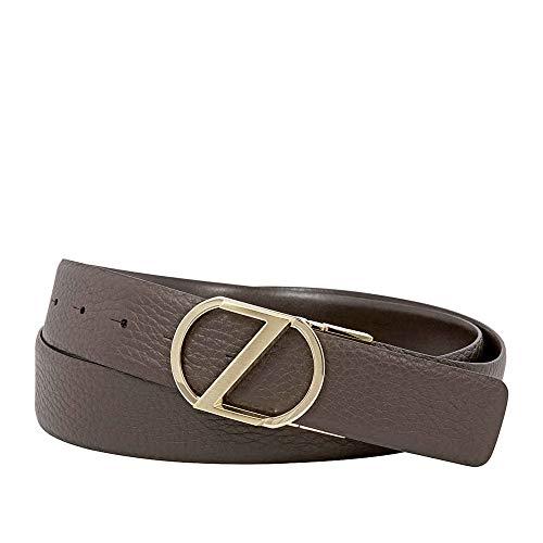 Zegna Men's XL Reversible Calfskin Leather Belt - Brown 42