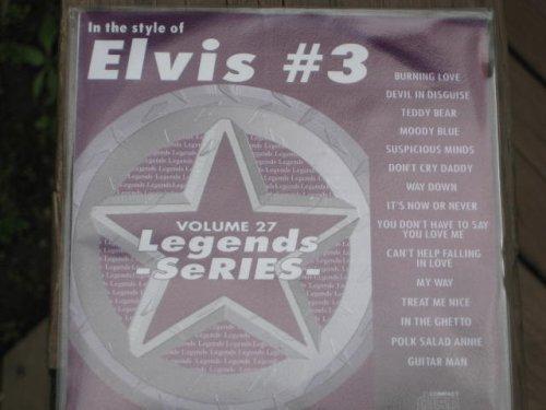LEGENDS Karaoke CDG #27 All Choice Hits of ELVIS PRESLEY Vol.3 (Elvis Karaoke)