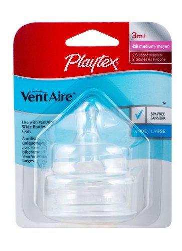 Playtex Natural (Playtex Ventaire Natural Shape Nipple, 2 Pack, Medium Flow (3 Pack))