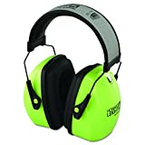 Howard Leight by Honeywell 1013941 L3HV Hi-Visibility Over-The-Head Earmuff, Reflective Headband, 30dB Noise Reduction Rate, Metal/Plastic, Green/Black