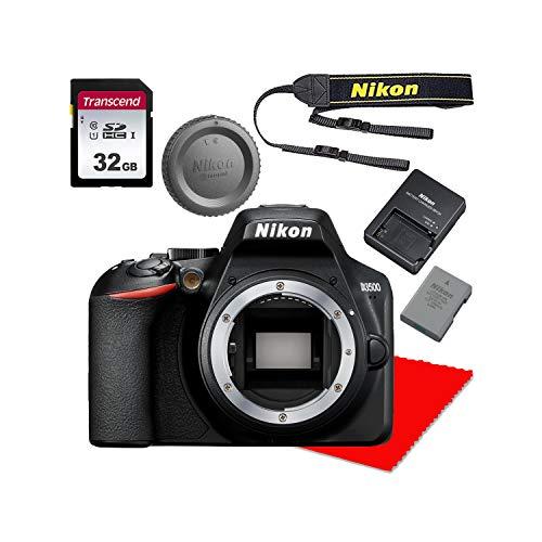 Nikon D3500 DSLR Camera Body + 32GB Memory Bundle