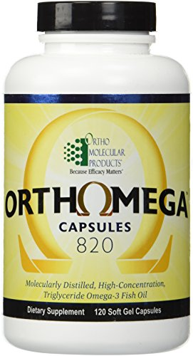 Ortho Molecular Products Orthomega 820 – 120 Soft Gel Capsules Review