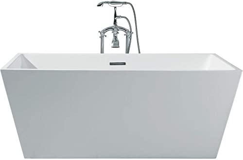 DKB Caspian UB116-6332 Freestanding Acrylic White Soaking Bathtub 63 x 32