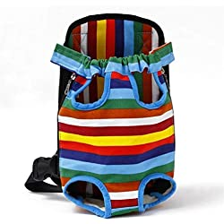 ERNANGUA Pet Dog Carrier Backpack Mesh Camouflage Outdoor Travel Products Breathable Shoulder Handle Bags for Small Dog Cats Chihuahua (Color : Rainbow, Size : S)