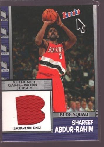 SHAREEF ABDUR-RAHIM 2004-05 TOPPS BAZOOKA GAME USED WORN JERSEY PATCH KINGS $12