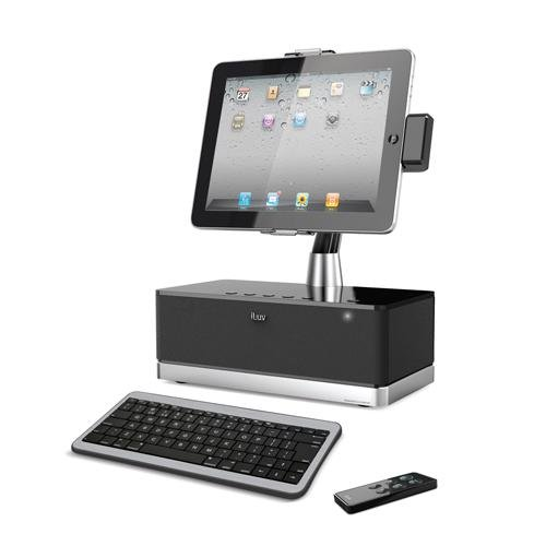 iLuv iMM517BLK WorkStation Pro Mobile SuperStation with Dock and Bluetooth Keyboard for Apple iPad, iPhone and iPod Touch