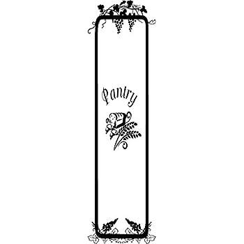 Whole Pantry Door Design  Kitchen Vinyl Door Decal (glass Etching)