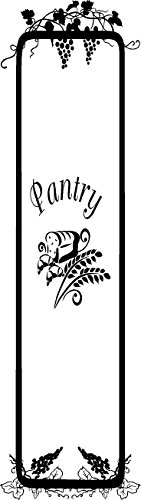 Amazon.com: CreativeSignsnDesigns Whole Pantry Door Design  Kitchen Vinyl  Door Decal (black): Home U0026 Kitchen