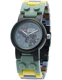 Star Wars Boba Fett Kids Buildable Watch with Link Bracelet and Minifigure | green/gray | plastic | 28mm case diameter| analog quartz | boy girl | official