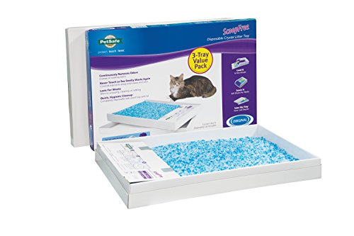 PetSafe ScoopFree Self-Cleaning Cat Litter Box Tray Refills, Non-Clumping Crystal Cat Litter, 3-Pack - PAC00-14231, Premium Blue Crystals