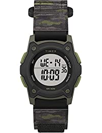 Boys TW7C77500 Time Machines Digital Black/Green Camouflage Fast Wrap Strap Watch