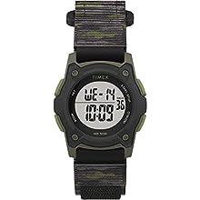 Timex Boys' Time Machines Digital Quartz Nylon Strap, Black, 18 Casual Watch (Model: TW7C775009J)