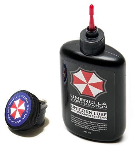 (Umbrella Corporation Unicorn Lube Gun Oil Plus .5oz Jar Aeroshell 33MS / 64 Grease (4oz Oil (Red Tip) + .5oz Grease))