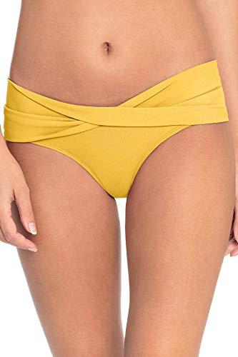 - Robin Piccone Women's Twisted Sash Hipster Bikini Bottom Dandelion XS