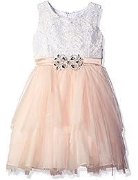 Big Girls' Mesh Cascade Special Occasion Dress