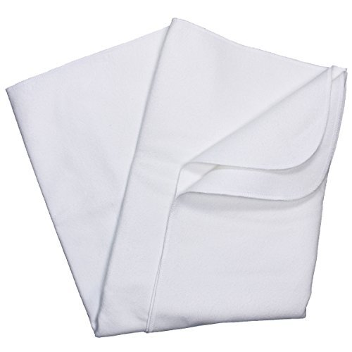 Carter's Keep Me Dry Cotton Flannel Protector Pad, White