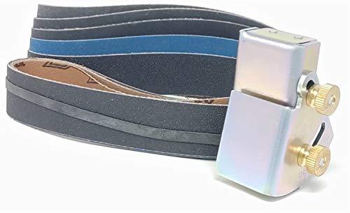 Knife Sharpening Angle Guide fits 1X30 Belt Sander with Assorted 5 Pack of 1X30 Sharpening Sanding Belts
