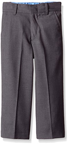 Charcoal Dress Pants Gray (IZOD Little Boys' Herringbone Pant, Charcoal, 6R)