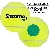 Gamma Sports Kids Training (Transition) Balls, Yellow/Green Dot, 78 Green Dot, 12-Pack