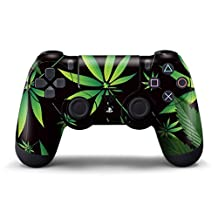 PS4 Controller Designer Skin for Sony PlayStation 4 DualShock Wireless Controller - Weeds Black