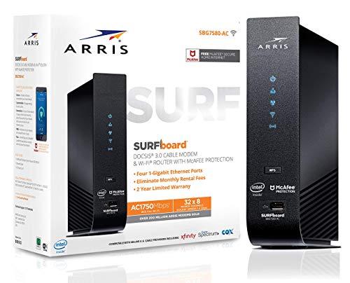 ARRIS SURFboard (32x8) DOCSIS 3.0 Cable Modem Plus AC1750 Dual Band Wi-Fi Router