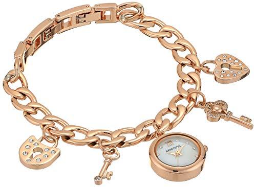 - Armitron Women's 75/5620MPRG Swarovski Crystal Accented Charm Watch