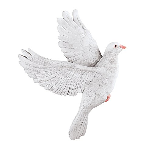 Collections Etc Dove in Flight 3D Sculpted Wall Art Inspirational Home Décor