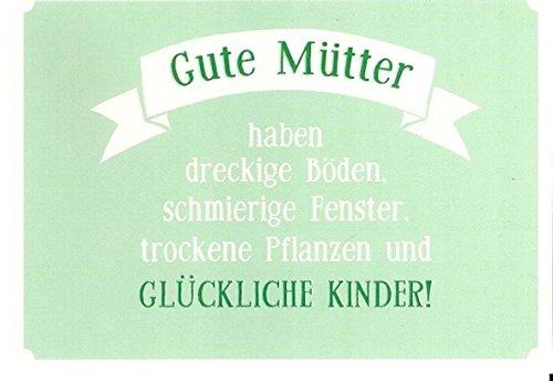 Postkarte Mit Spruch * Gute Mütter Glückliche Kinder: Amazon.de: Bürobedarf  U0026 Schreibwaren