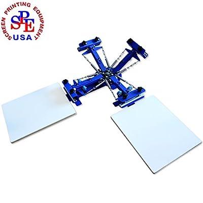 Screen Printing Machine Silk Screen Printing Machine Screen Printing Press 4 Color 2 Station T-shirt Screen Printing Equipment DIY Printer