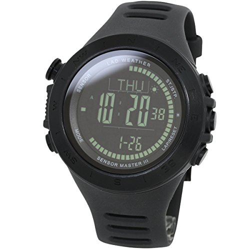 LAD-WEATHER-Swiss-sensor-Altitude-air-pressure-Digital-Azimuth-Storm-alarm-Step-counter-watch