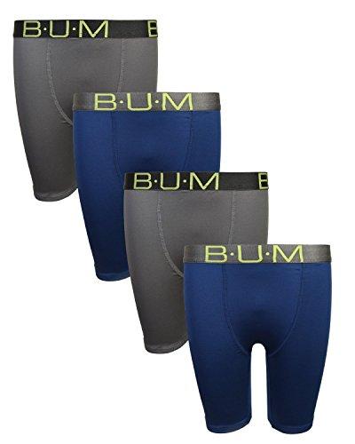 B.U.M. Equipment Boys' Performance Dri-Fit Compression Boxer Briefs (Pack of 4) (Medium/8-10, Charcoal & Navy)' by B.U.M. Equipment (Image #6)