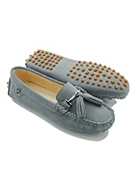 Minitoo Womens Casual Tassel Suede Leather Driving Penny Loafers Moccasins Slip-on Casual Flats