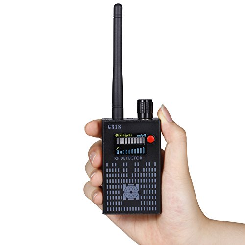 YOUYOUTE Anti-Spy Amplification signal detector RF Spy Bug camera wireless Detector Frequency Scanner Sweeper GSM CDMA GPS Tracker Finder Review