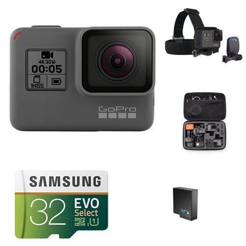 : GoPro HERO5 Black w/ Head Strap, Carrying Case, Battery and Memory Card