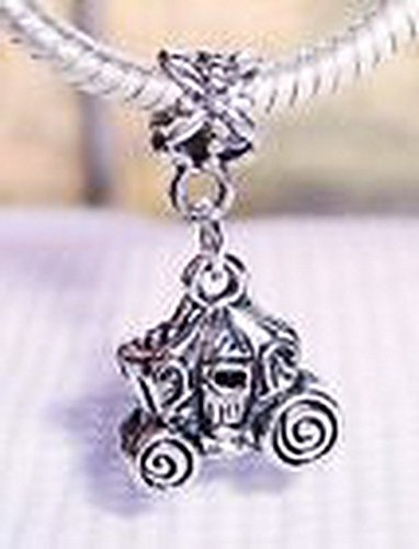 Glamorise Beads #14115 Royal Carriage Princess Coach Dangle Bead for Silver European Charm - Royal International Bead Silver