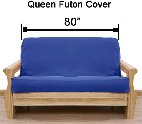 SlipcoverShop Faux Leather Burgundy Futon Cover Queen 297