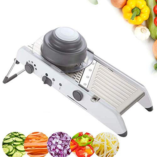Mandoline Slicer 18 Types Adjustable Vegetable Slicer Stainless Steel Cutter Chopper and Grater for Kitchen, Food Slicer Potato Slicer Veggie Onion Tomato Fruit