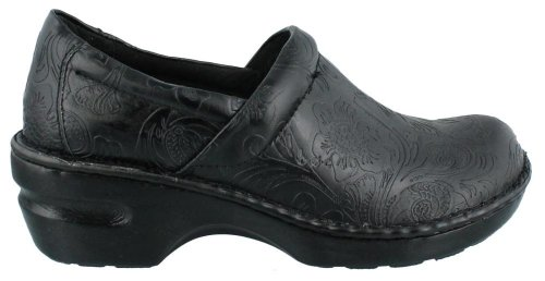 clearance online browse Born Women's B.O.C Peggy Leather Clog Black Tooled on hot sale order for sale free shipping many kinds of xDhOwJrgr