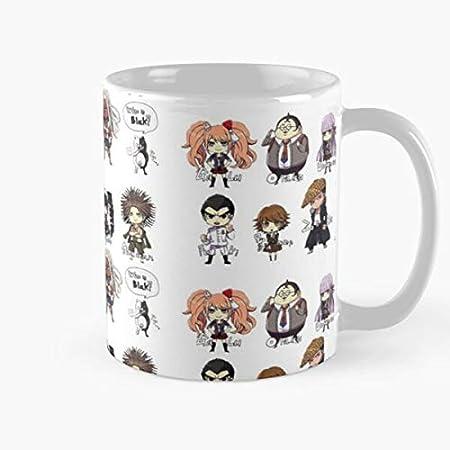 3 2 V3 Danganronpa Best Taza de café de cerámica de 11 oz