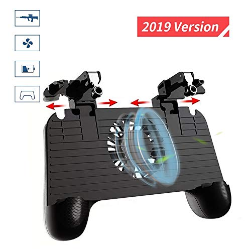 BAVST Mobile Game Controller【2019 Version】 with Cooling Fan Multifunctional L1R1 Mobile Trigger for iOS/Android (Best Mobile Android Games 2019)