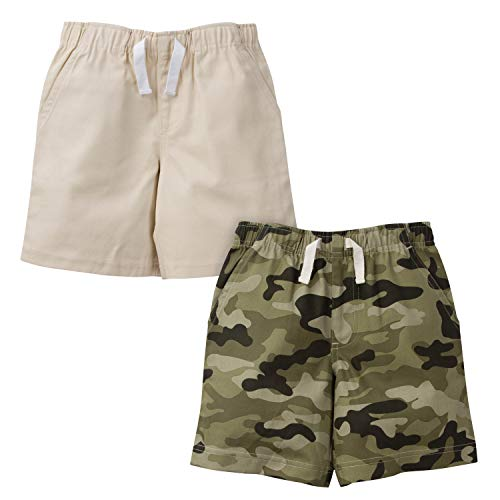 (Gerber Graduates Baby Boys 2 Pack Shorts, Camo and Khaki, 18 Months )