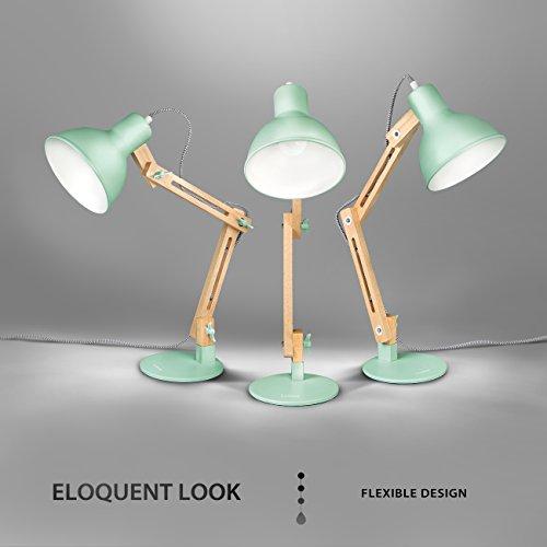Tomons Swing Arm Desk Lamp Natural Wood Designer Lamp For