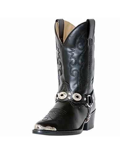 laredo concho harness boots brown - 3