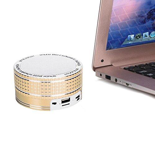 bescita Cajas Mini Wireless Bluetooth altavoz inalámbrico beweglicher Super baß Música palyer para iPhone 7Plus iPad Samsung Galaxy S7Edge, color rosa amarillo