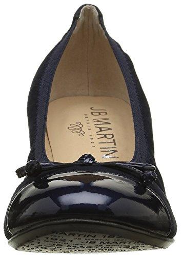 Jb Martin Damen 1 Glorie Slingback Bleu (Che Vel Nuit/Vver Glossy Navy)