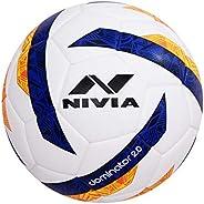 Nivia 80082 Other Dominator 2.0 Football, Size 5 (White Blue)