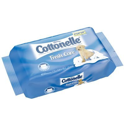 Cottonelle Popup Refill Wipes by Kimberly Clark (K-C11963) 42-Count (Pack of 12) ()