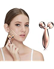PRITECH Beauty Bar Facial Face Massager,3D Roller Electric Sonic Energy and T Shape Arm Eye Nose Head Massager Instant Face Lift, Anti-Wrinkles, Skin Tightening, Face Firming
